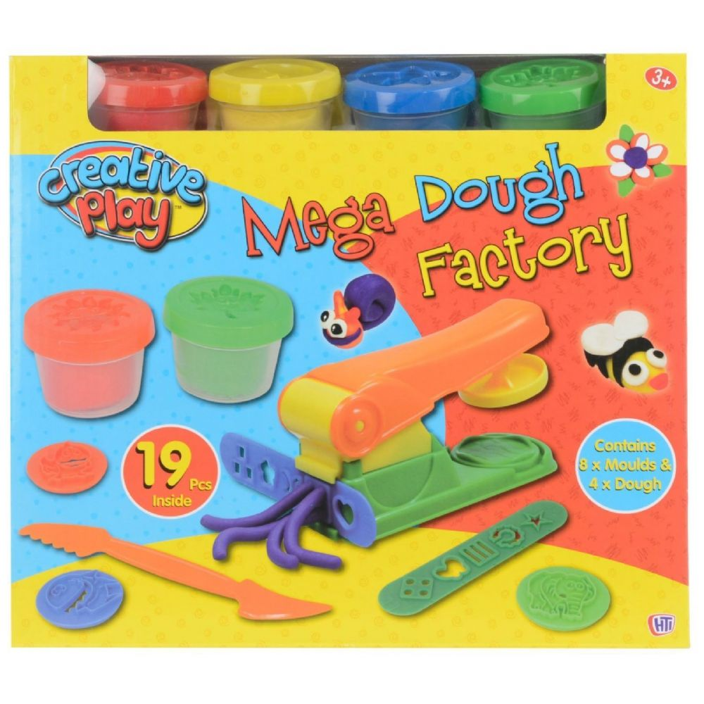 Creative Play Mega Dough doh Factory Toy Set 19 Pieces included 3+ Years 1372507